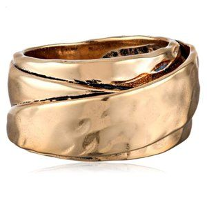 Bronzed Hammered Ring